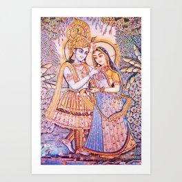 Hare Krishna Love Art Print