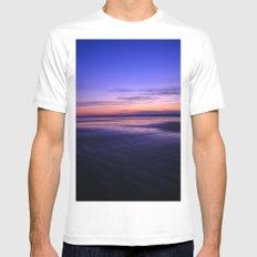 Oregon Coast Sunset 2 Mens Fitted Tee White MEDIUM