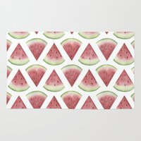 watermelon Area & Throw Rugs featuring Watermelon by Jill Byers