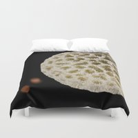 coral Duvet Covers featuring Coral by Wolff Prints