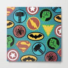 Superheroes Everywhere Metal Print