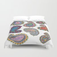paisley Duvet Covers featuring Paisley by WelshPixie