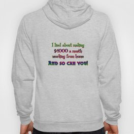 "Funny ""Working From Home"" Joke Hoody"