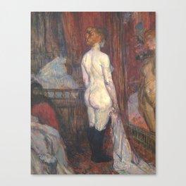 """Henri de Toulouse-Lautrec """"Woman before a Mirror"""" Canvas Print"""