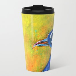 Peacock art: GLOW Travel Mug