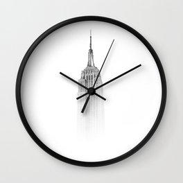 Wistful monochrome Empire State Building Wall Clock