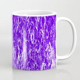 Vertical metal texture of bright highlights on violet waves. Coffee Mug