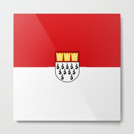 Flag of Cologne Köln Metal Print