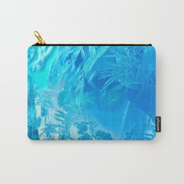 Hoar Frost in Turquoise Carry-All Pouch