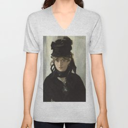 Edouard Manet - Young woman in a black hat Unisex V-Neck