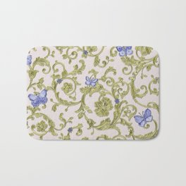 Butterfly Leaf Baroque Floral Bath Mat