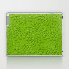 Leather Look Petal Pattern - Greenery Color Laptop & iPad Skin