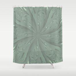 Lost in the Laurels Fractal Bloom Shower Curtain