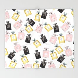 Classic Parfum Pattern Throw Blanket