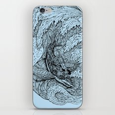 i only surf on SHARKS! iPhone Skin