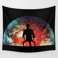 mass effect Wall Tapestries featuring Illusive man ( Mass Effect ) by TxzDesign