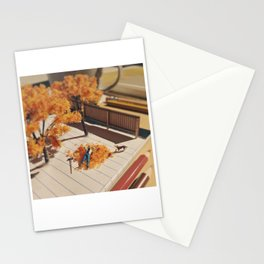 Relaxing in fall Stationery Cards