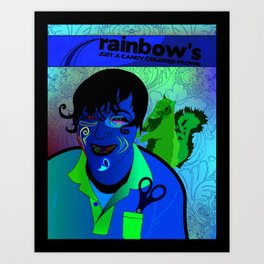 Candy Colored Frown Art Print