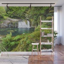 A magic lake deep in the woods Wall Mural