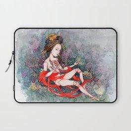 Oriental Beauty: Goddess of Nature Laptop Sleeve