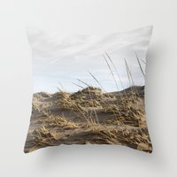 dune Throw Pillows featuring Dune by Nancy J's Photo Creations