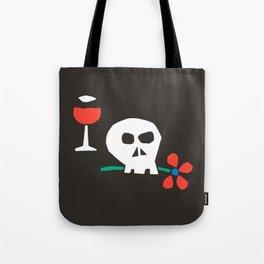 Drunk Skull Tote Bag