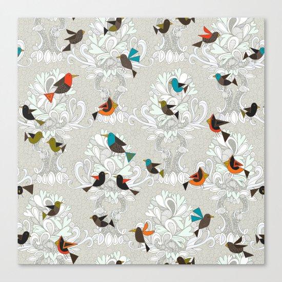 bird love trees Canvas Print