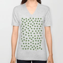 Light Green Clover Unisex V-Neck