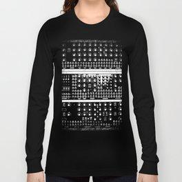 Retro Modular Synthesizer Long Sleeve T-shirt