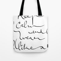 boss Tote Bags featuring Boss  by Ben Nguyen