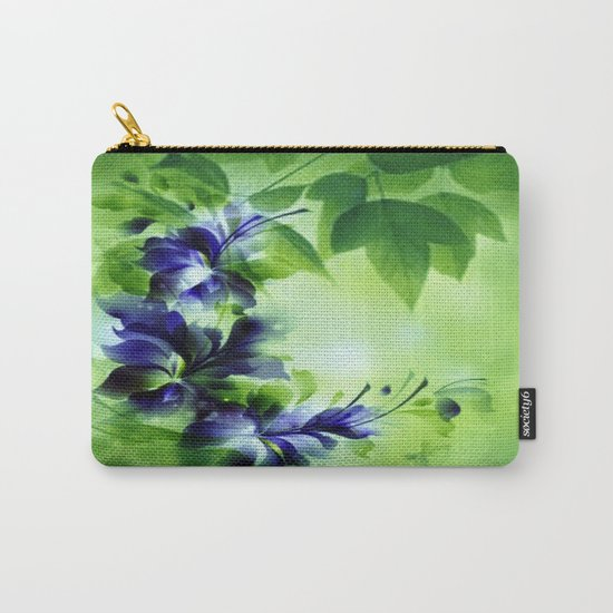 Cascading Bouquet Abstract Carry-All Pouch