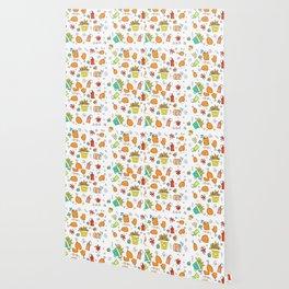 Fast Food Pattern Wallpaper