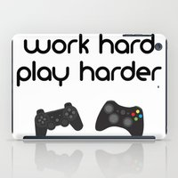 die hard iPad Cases featuring Work hard play harder by eARTh