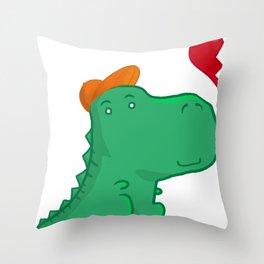 Dinoboy Throw Pillow