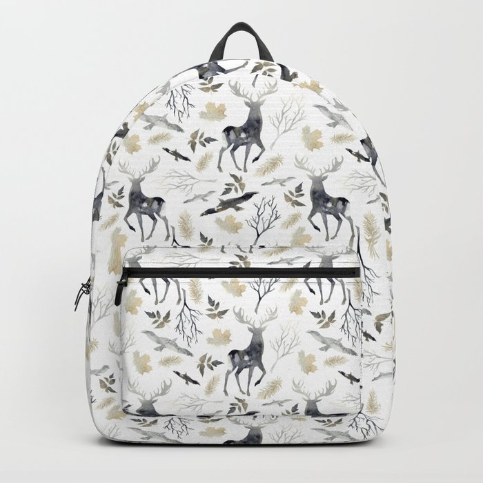 Deer and birds Backpack