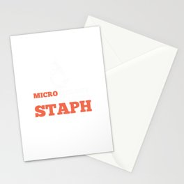 Microbiology Department Staph - Microbiology Stationery Cards