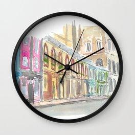 Edinburgh Scotland Street Scene with Shops Wall Clock