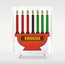 Kwanzaa Shower Curtain