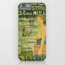 Emile Muller ceramist Paris iPhone Case