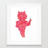 devil Framed Art Prints featuring Devil by Guice Mann