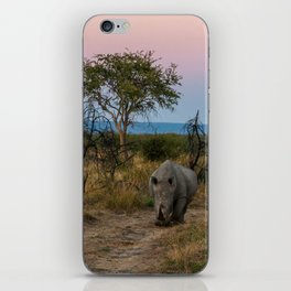 A Rhinoceros and a Sunrise in South Africa iPhone Skin