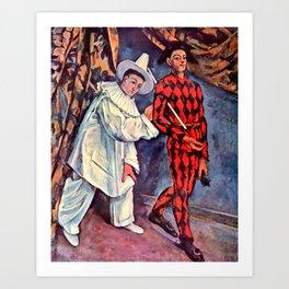 "Paul Cezanne ""Pierrot and Harlequin (Mardi gras)"", 1888 Art Print"