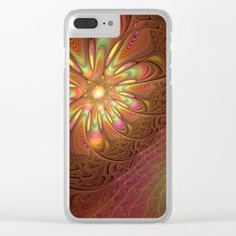 Slant, Abstract Fractal Art Clear iPhone Case