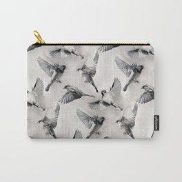 Sparrow Flight - monochrome Carry-All Pouch