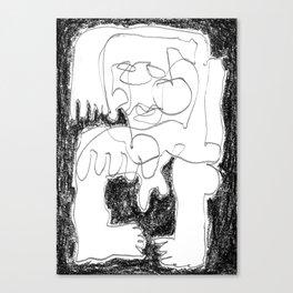 Static Noise - b&w Canvas Print