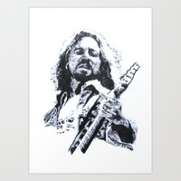 eddie vedder Art Prints featuring Vedder. by Raisedbywolves