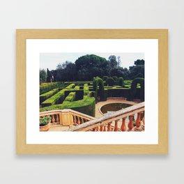 Parc del Laberint d'Horta Framed Art Print