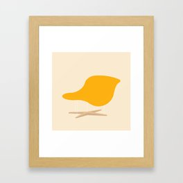 Yellow La Chaise Chair by Charles & Ray Eames Framed Art Print
