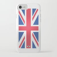 mini cooper iPhone & iPod Cases featuring Mini Cooper Top Flag by MYFASHIONCASE