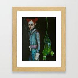 girls and frogs Framed Art Print